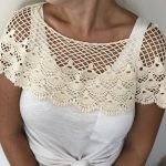 Cream crochet Lace Shoulder Cape - Purity Lace Designs