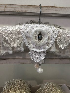 Lace Coat Hanger White - Purity Lace Designs