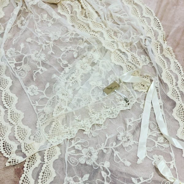 Floral Delight cream lace scarf | Purity Lace Designs