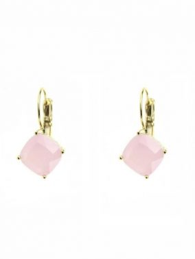 Rose Gold Pink Opal Cubic Zirconia Earrings | Purity Lace Designs