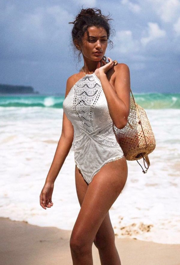 Lace One piece Bathers - Purity Lace Designs