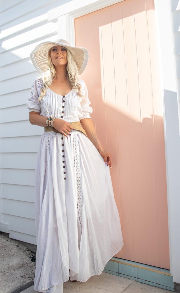 Leila White Dress | Purity Lace Designs