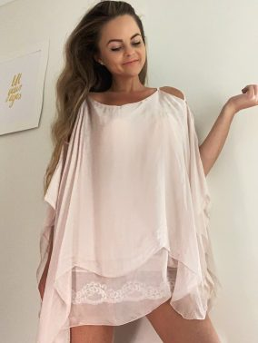 Maggie Top Pink | Purity Lace Designs