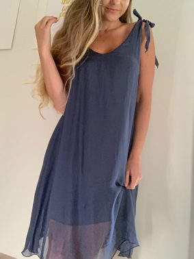 Molly Dress Navy | Purity Lace Designs