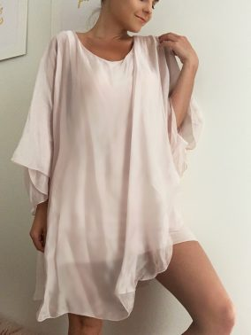 Elyse Dress/ Blouse Pink | Purity Lace Designs
