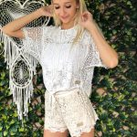 Hollie Tie Top White - Purity Lace Designs