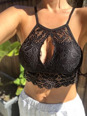 Paige Black Lace Bra - Purity Lace Designs