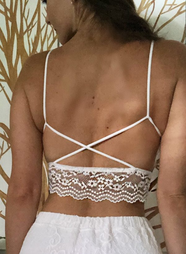 Giselle White Lace Bra - Purity Lace Designs