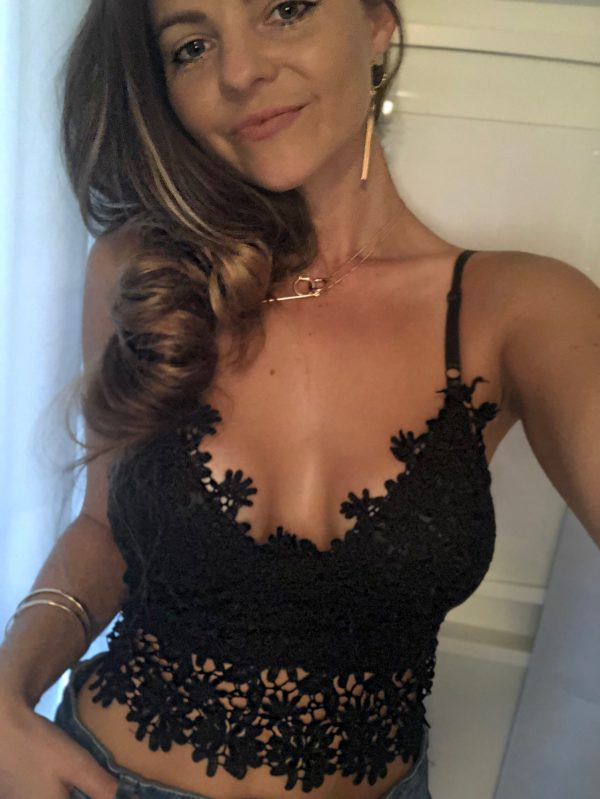Romy Lace Black Bralette Top - Purity Lace Designs