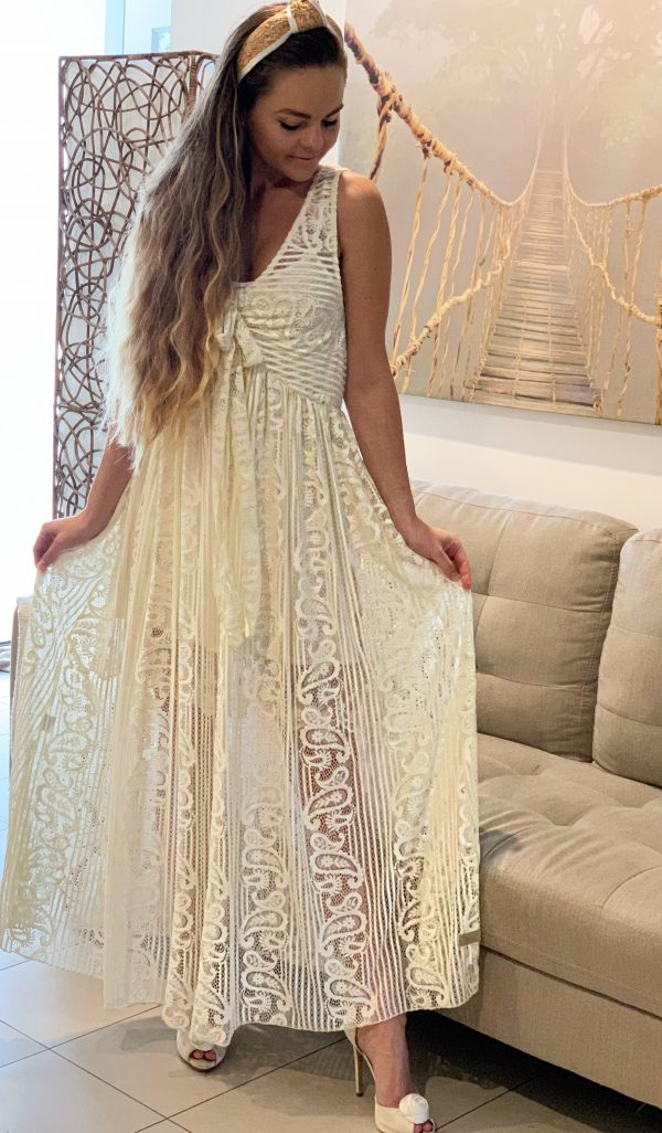 Rosie Swirl Lace Dress   Purity Lace Designs