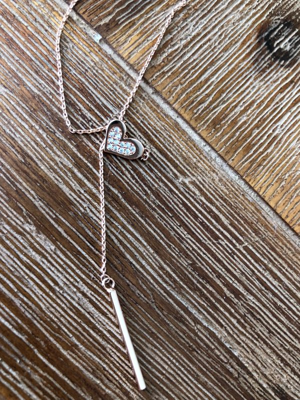 Jane Pendant 14K Rolled Rose Gold Necklace - Purity Lace Designs