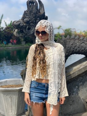 Exquisite Lace Head Scarf | Purity Lace Designs