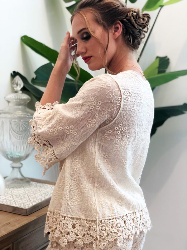 Cream Hope Jacket - Purity Lace Designs