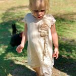 Charlotte's Dress Cream/Coco - Purity Lace Designs