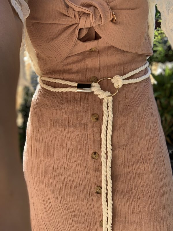 White Gold Rope Belt - Purity Lace Designs