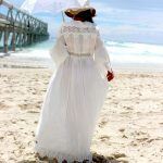 Maternity Moroccan Lace Dress - Purity Lace Designs