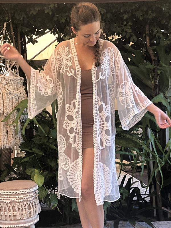 Lace Kimono (Great for plus size) - Purity Lace Designs
