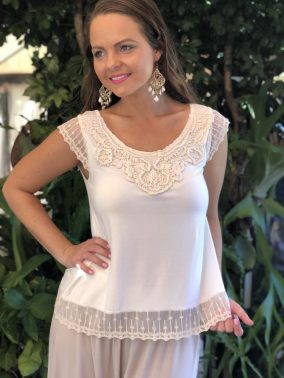 Sweet Tee Cream - Purity Lace Designs