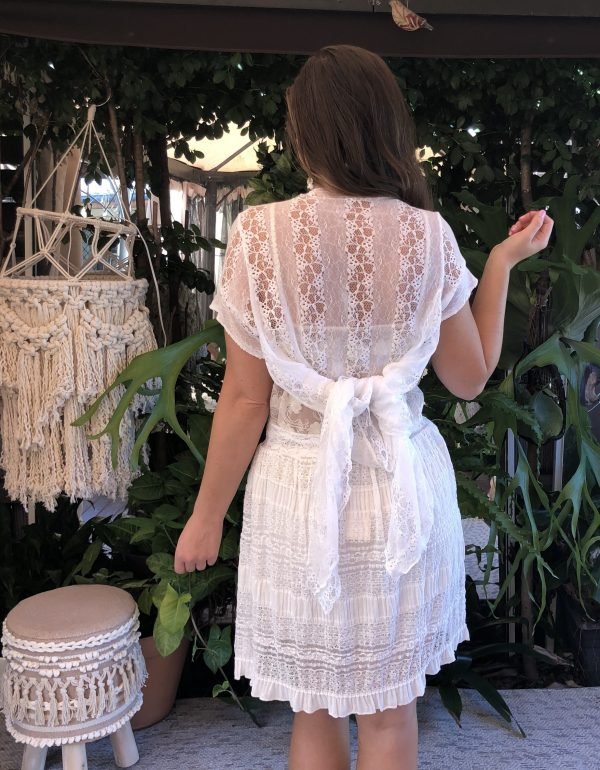 White French Cap Sleeve Jacket - Purity Lace Designs
