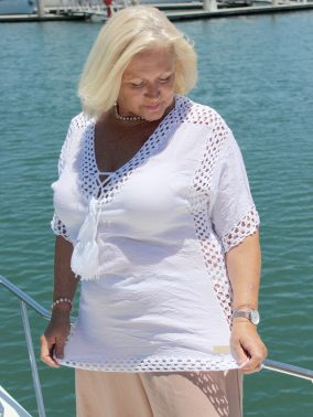 Joanne Curvy Caftan Top - Purity Lace Designs