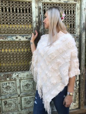 Pastel Pink Poncho - Purity Lace Designs