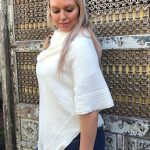 Megan Braided Collar Poncho - Purity Lace Designs