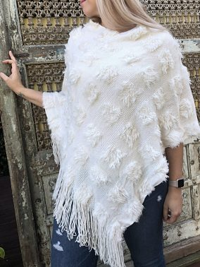 Blush Poncho - Purity Lace Designs