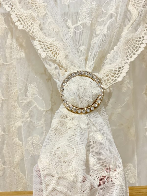 Diamonte Scarf Ring | Purity Lace Designs