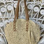 Tami Tote Cream Round Handbag | Purity Lace Designs
