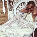 Rosie Swirl Lace Dress - Purity Lace Designs