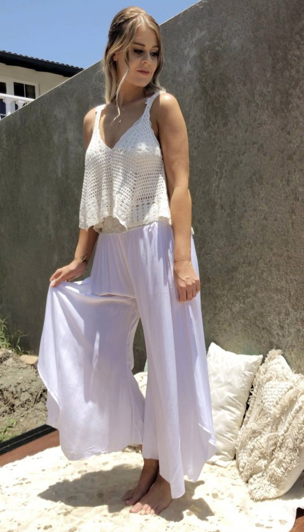 Gatsby Flapper Pants White - Purity Lace Designs
