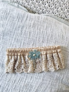 Cream Handmade Garter | Purity Lace Designs