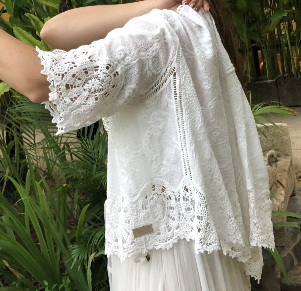 Hope Jacket White - Purity Lace Designs