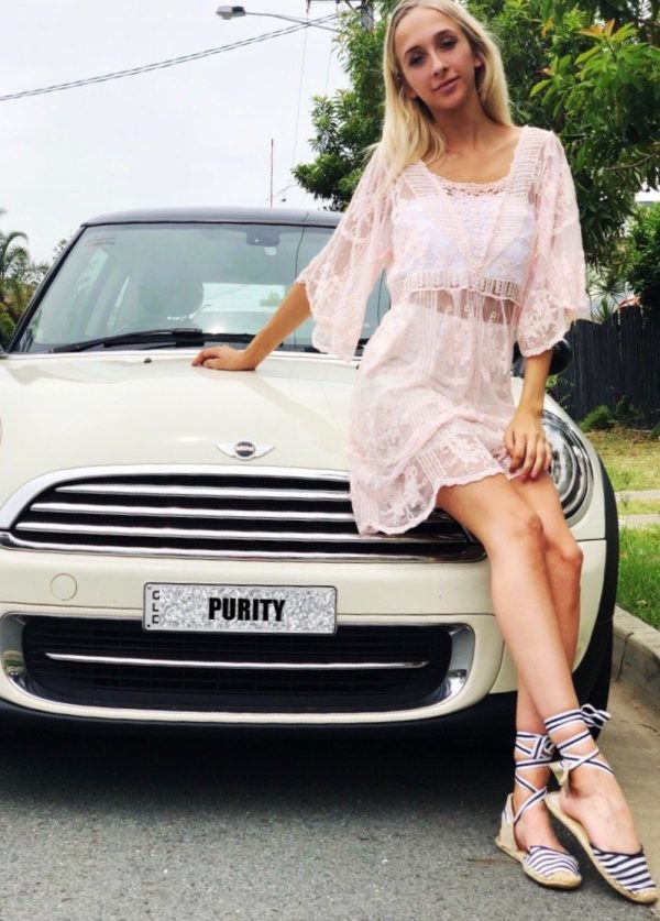 Pink Doll Dress - Purity Lace Designs