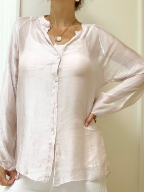 Scarlett Pink Blouse | Purity Lace Designs