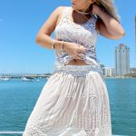 White Lacey Lace Frill Top - Purity Lace Designs