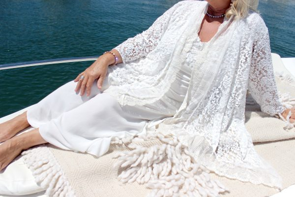 Maternity Gown Italian Romance White Lace Jacket - Purity Lace Designs