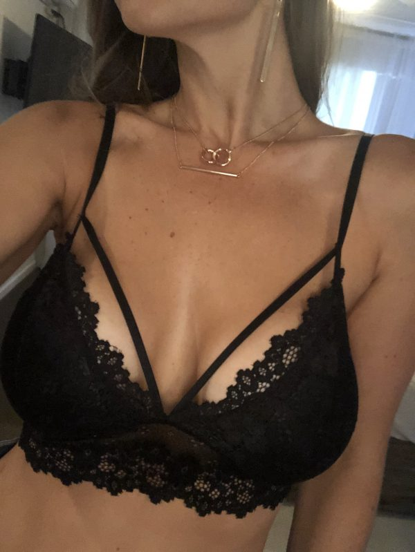 Adriana Black Lace Bra - Purity Lace Designs