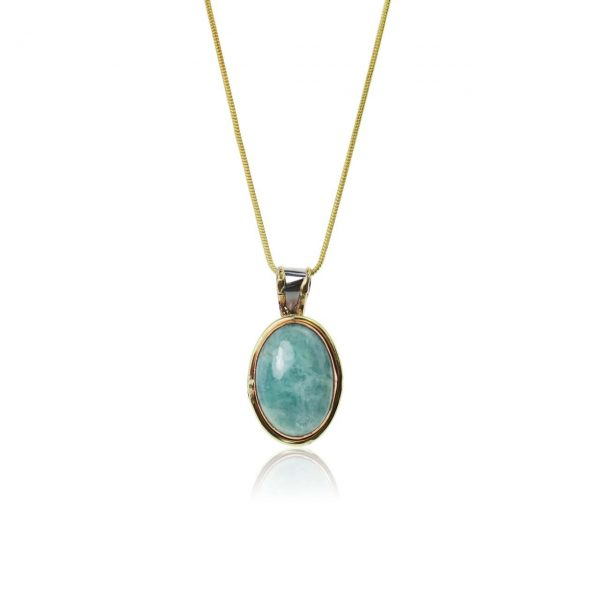 Turquoise Amazonite Pendant Necklace | Purity Lace Designs
