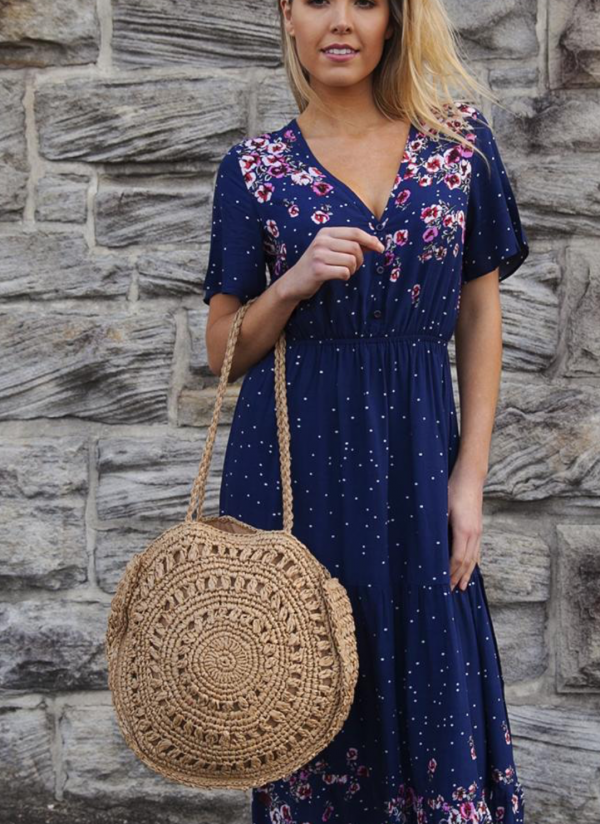 Spell Tan Tote Round Handbag   Purity Lace Designs