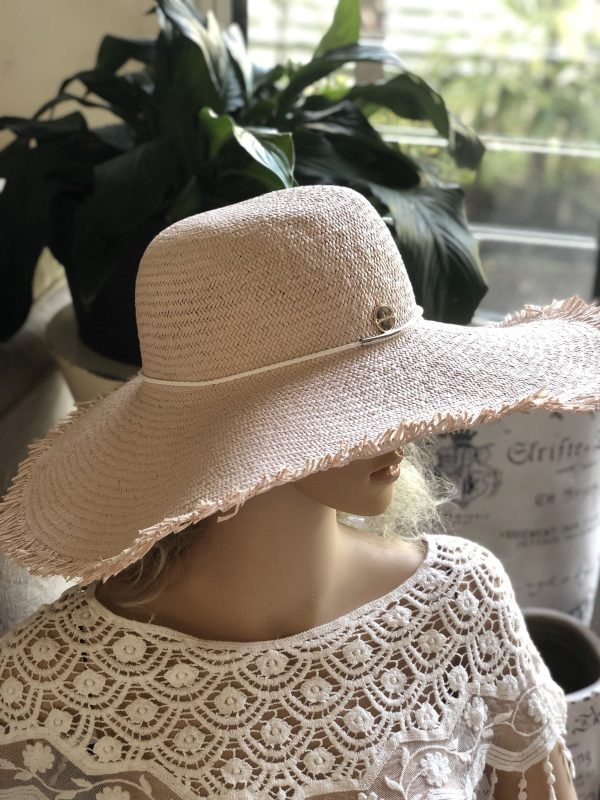 Nikita Blush Floppy Hat | Purity Lace Designs