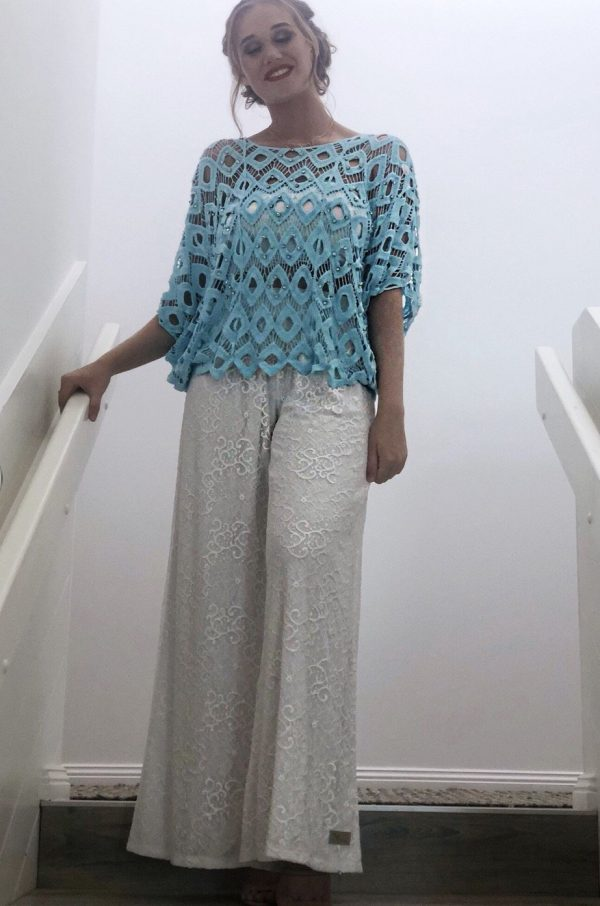 Palazzo Savannah Lace Pants - Purity Lace Designs