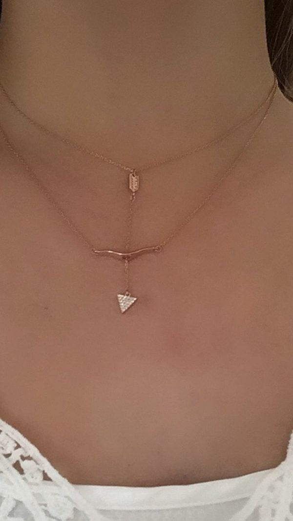 Cupids Bow 14K Rose Gold  Necklace | Purity Lace Designs