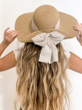 Bree Bow Hat | Purity Lace Designs
