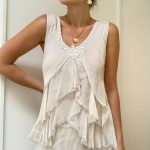 Ava Silk Ruffle Top | Purity Lace Designs