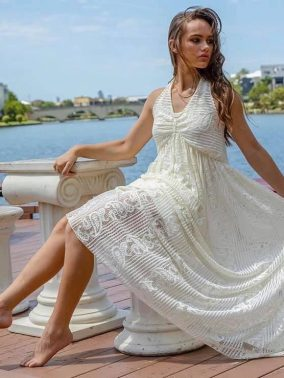Rosie Swirl Lace Dress | Purity Lace Designs