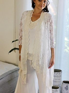 Italian Romance White Lace Jacket - Purity Lace Designs
