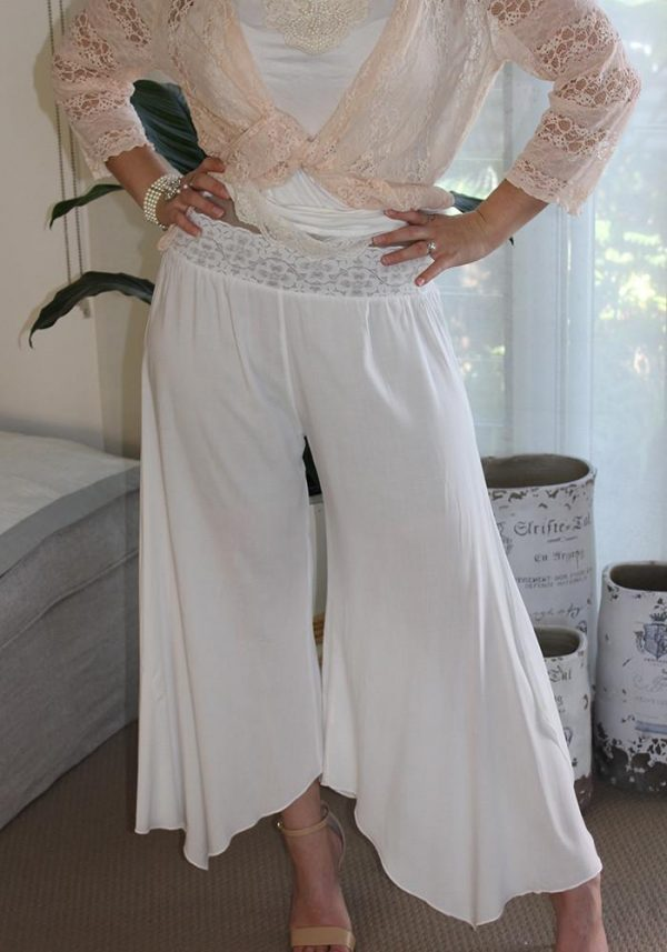 Maternity Gatsby Flapper Pants Off White - Purity Lace Designs