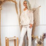 Cream Camila Pants | Purity Lace Designs