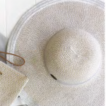 Silver Cabana Floppy Hat   Purity Lace Designs